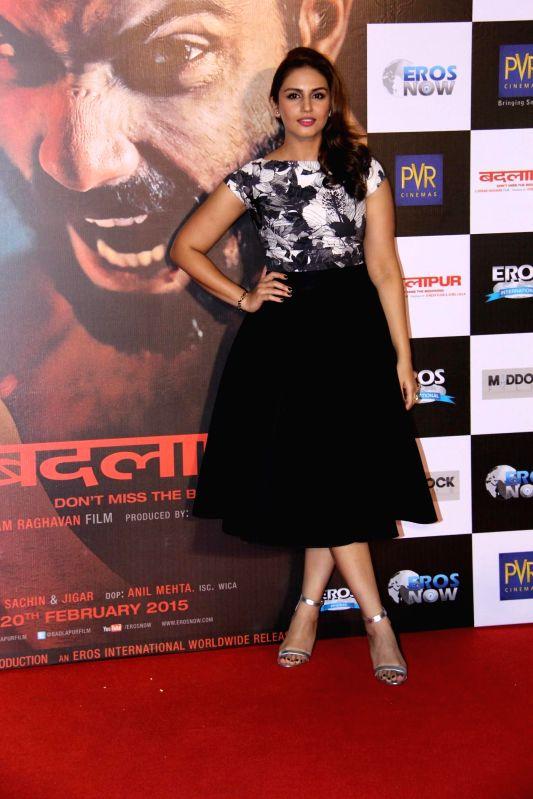 Actress Huma Qureshi during the teaser launch of film Badlapur in Mumbai on Dec 2, 2014. - Huma Qureshi