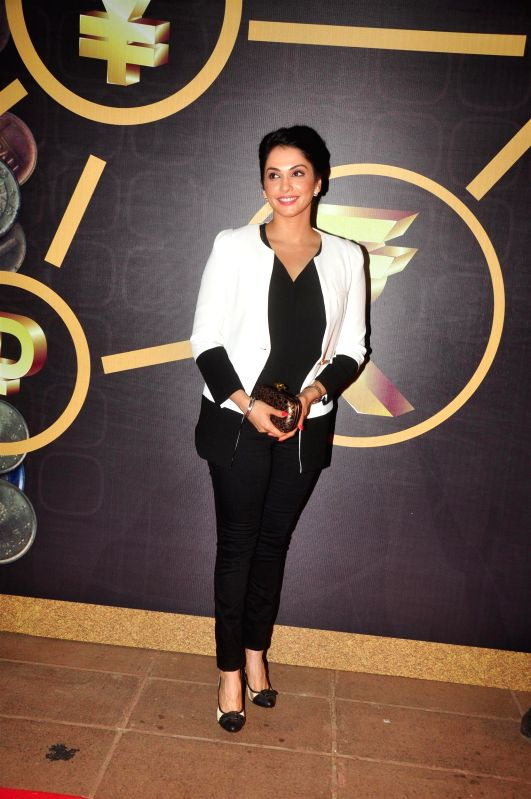 Actress Isha Koppikar at the NRI of the year awards, in Mumbai on April 10, 2015. - Isha Koppikar