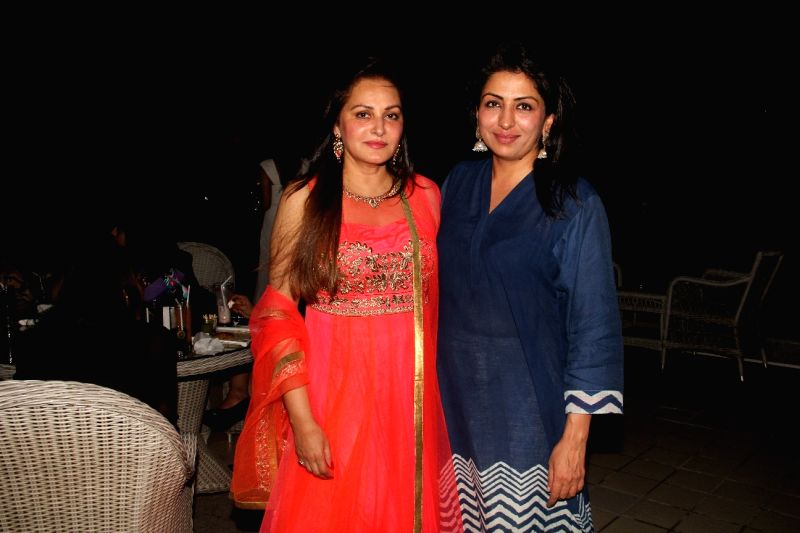 Actress Jaya Prada and Sheetal Talwar during the 50th birthday of Sangeethi Seetharaman, in Mumbai, on April 27, 2015. Politician Amar Singh hosted the party for Sangeethi Seetharaman who is ... - Jaya Prada
