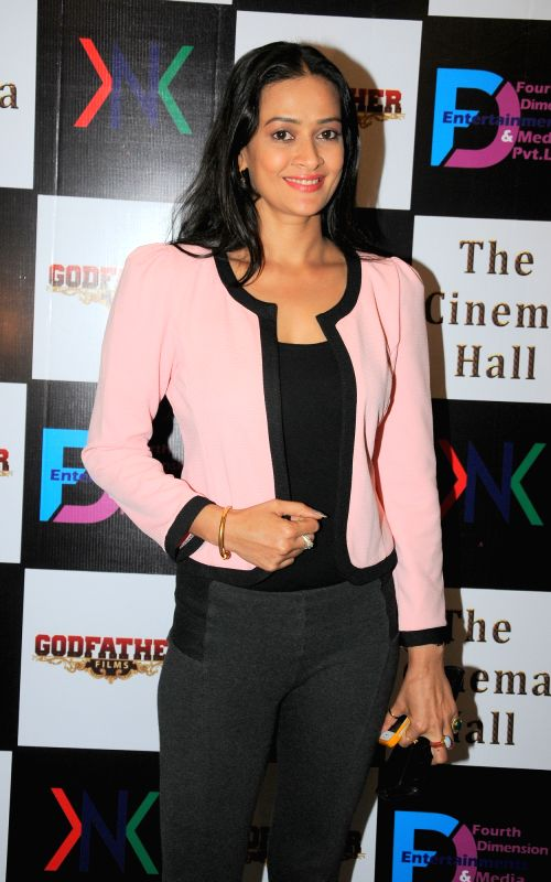 Actress Jesse Kaur during the announcement of new Film, The Cinema Hall, in Mumbai, on April 18, 2015. - Jesse Kaur