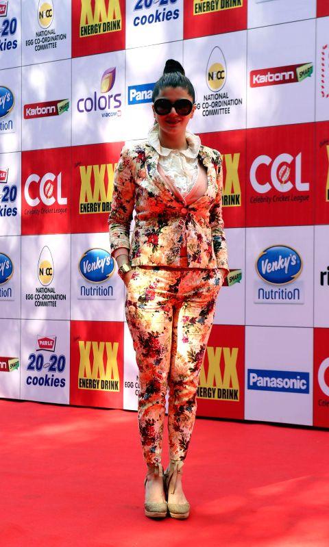 Actress Kainaat Arora during the Celebrity Cricket League (CCL) in Mumbai on Jan 10, 2015. - Kainaat Arora