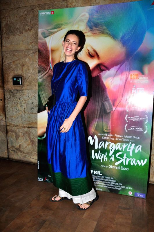 Actress Kalki Koechlin during the special screening of film Margarita With A Straw in Mumbai on 13th April 2015. - Kalki Koechlin