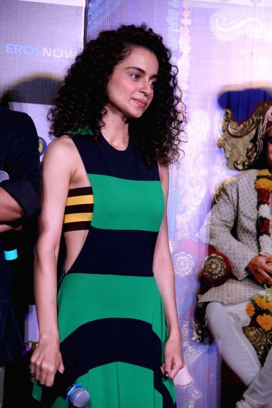 Actress Kanagana Ranaut during the trailer launch of film Tanu Weds Manu Returns in Mumbai on April 14, 2015. - Kanagana Ranaut