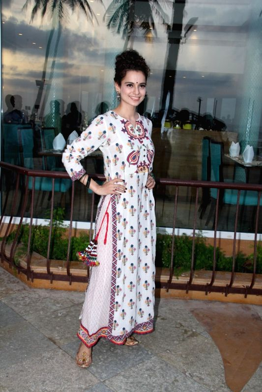Actress Kangana Ranaut during a promotion for her upcoming movie `Tanu Weds Manu Returns` in Mumbai on, April 29, 2015. - Kangana Ranaut