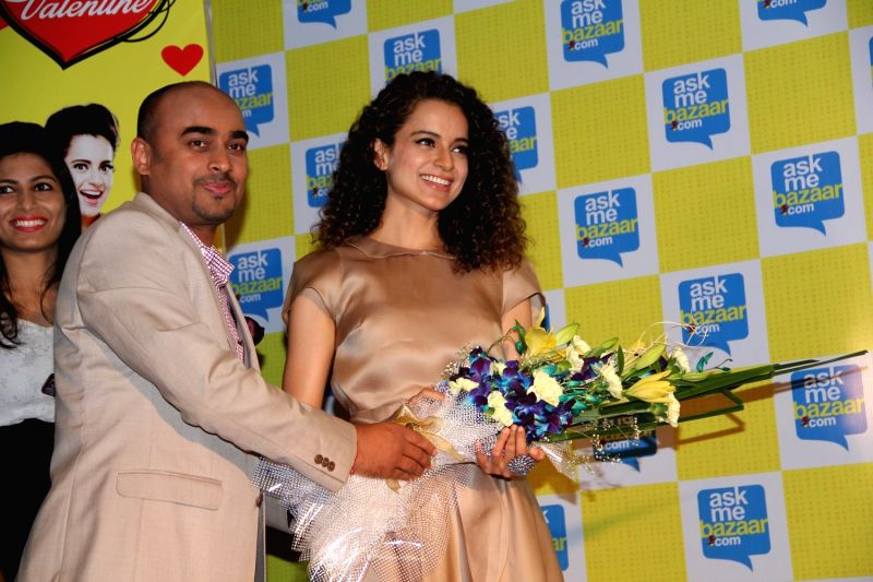 Actress Kangana Ranaut during Meet and Greet Kangana contest organised by askmebazaar.com in Mumbai on April 2, 2015. - Kangana Ranaut