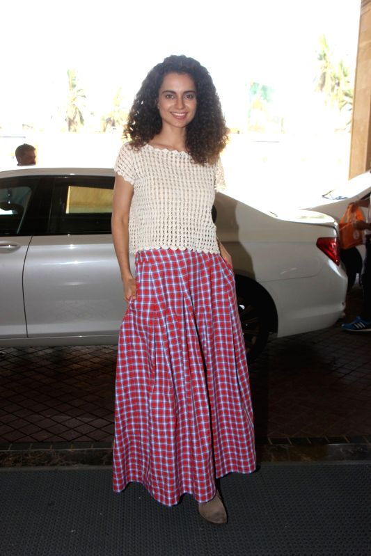 Actress Kangana Ranaut during the promotion of film Tanu Weds Manu Returns in Mumbai, on May 18, 2015. - Kangana Ranaut