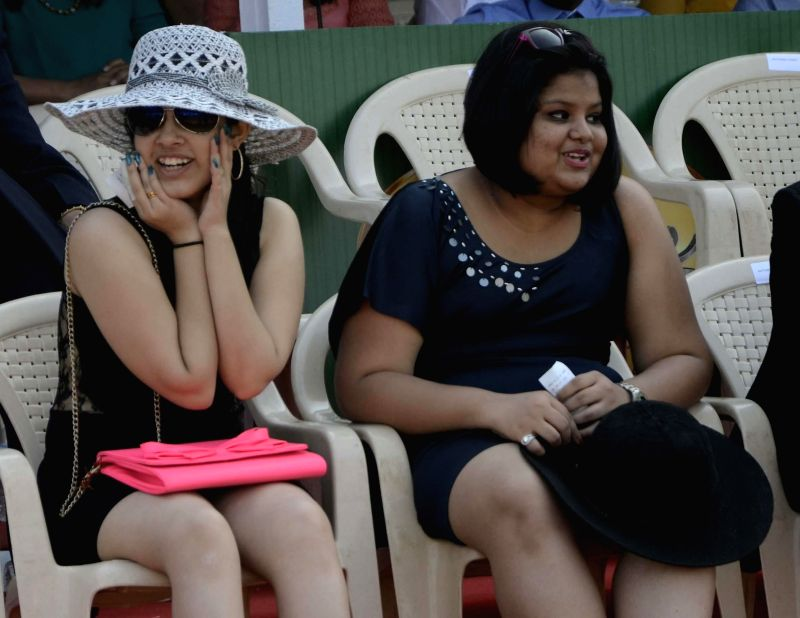 Actress Kangana Ranawat and industrilist Vijay Mallya at Signature Derby in Mahalaxmi Race Course, Mumbai on Feb. 1, 2015.