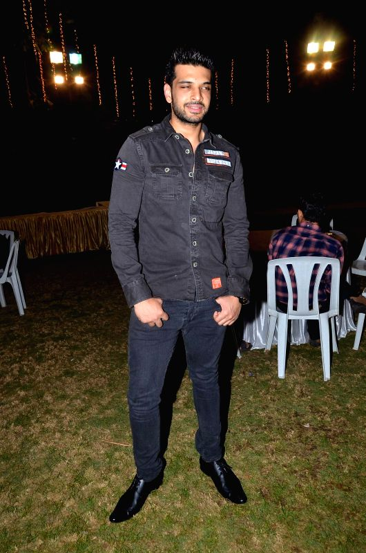 Actress Karan Kundra at the Red corridor film launch in Mumbai on Jan 18, 2015. - Karan Kundra