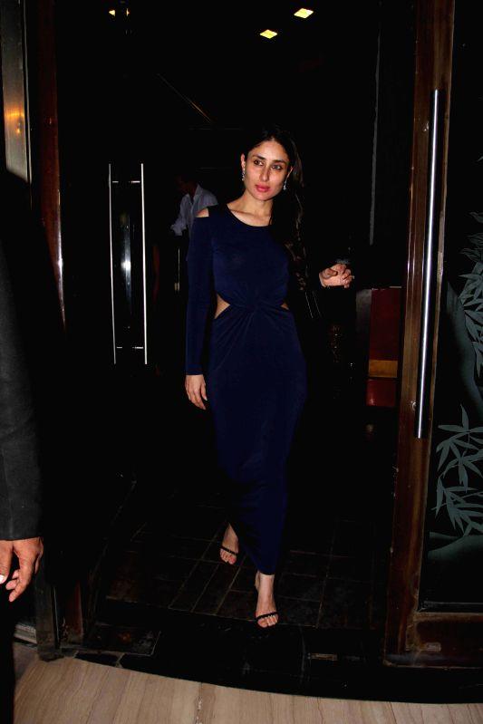 Actress Kareena Kapoor during Babita Kapoor`s birthday party in Mumbai, on April 19, 2015. - Kareena Kapoor