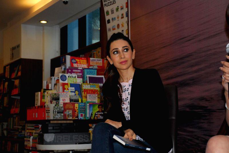 Actress Karisma Kapoor during the launch of Tamanna C's book The Way Ahead  in Mumbai on Dec 17, 2014.