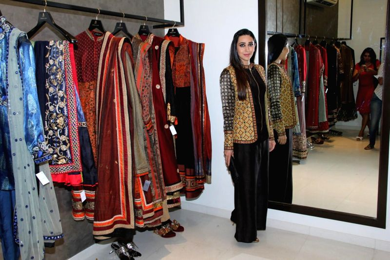 Actress Karisma Kapoor during the launch of fashion designer Anjali Jain's store in Mumbai on Feb 15, 2015.