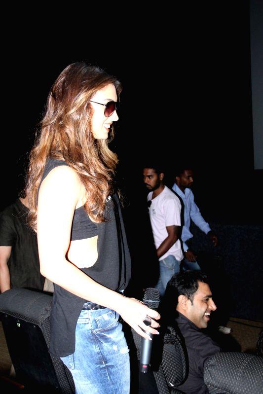 Actress Lauren Gottlieb during the trailer launch of the film Welcome to Karachi in Mumbai on 13th April 2015. - Lauren Gottlieb