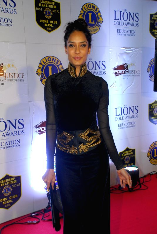 Actress Lisa Haydon during the Lions Gold Awards 2015 in Mumbai on Jan 6, 2015. - Lisa Haydon
