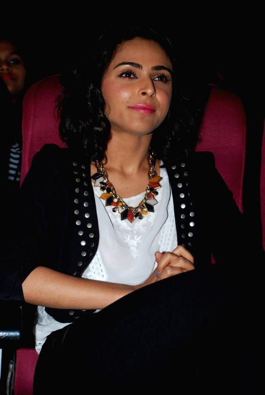 Actress Madhurima Tuli at the trailer launch of film ''Hey Bro'' in Mumbai,  on Jan 15, 2015. - Madhurima Tuli