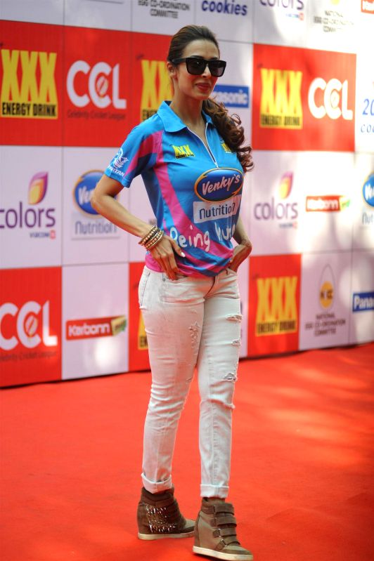 Actress Malaika Arora Khan during the Celebrity Cricket League (CCL) in Mumbai on Jan 10, 2015. - Malaika Arora Khan