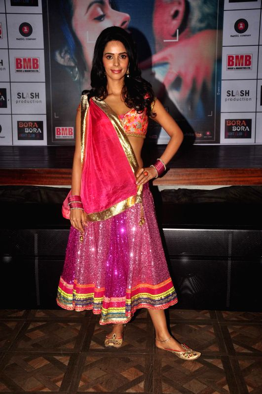 Actress Mallika Sherawat during the music launch of film Dirty Politics in Mumbai on 20th Jan 2015