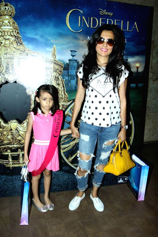 Actress Mini Mathur during the special screening of film Cinderella in Mumbai on March 13, 2015. - Mini Mathur