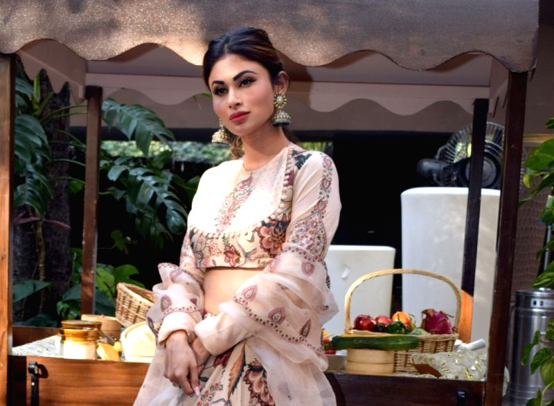 """Mumbai: Actress Mouni Roy during a press conference to promote her upcoming film """"Made in China"""" in New Delhi on Oct 21, 2019. (Photo: Amlan Paliwal/IANS)"""