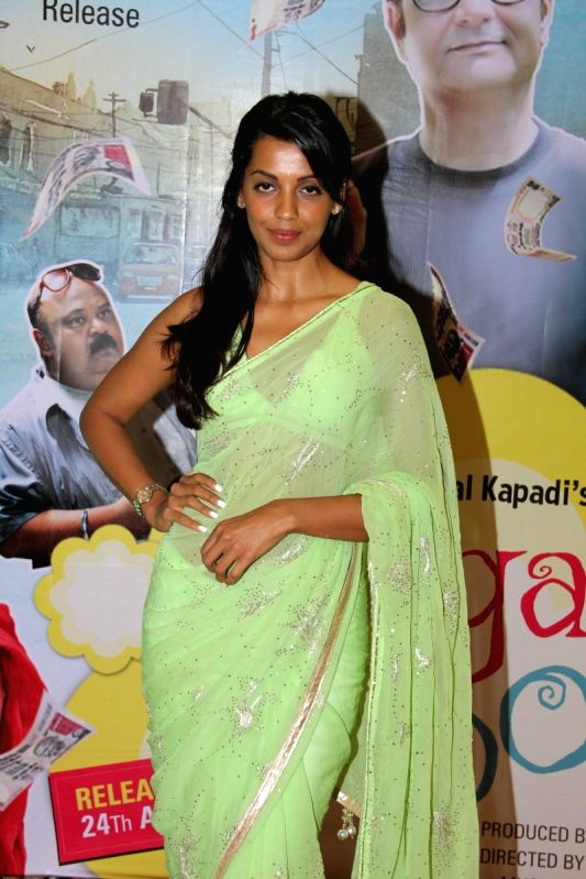 Actress Mugdha Godse during the Music launch of film Kaagaz Ke Fools in Mumbai on April 19, 2015. - Mugdha Godse