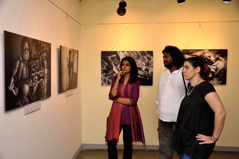 Actress Nandita Das visits a photography exhibition by Sami Siva at Piramal Art Gallery in Mumbai on Feb. 2, 2015.