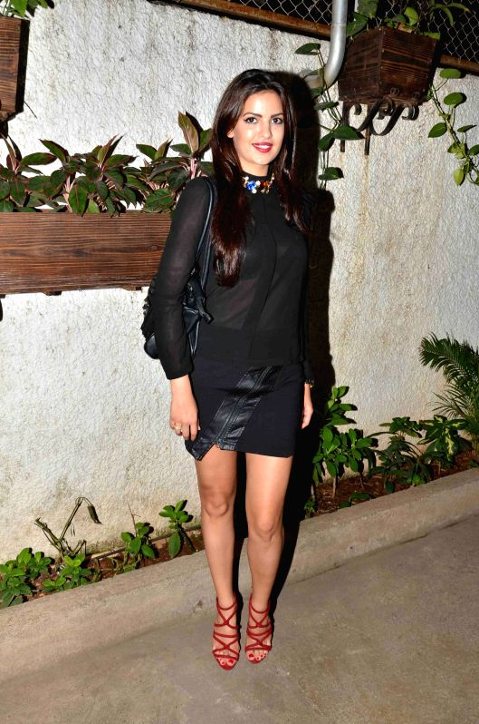 Actress Natasa Stankovic during the trailer launch of international film Promise Dad in Mumbai, on April 23, 2015. - Natasa Stankovic