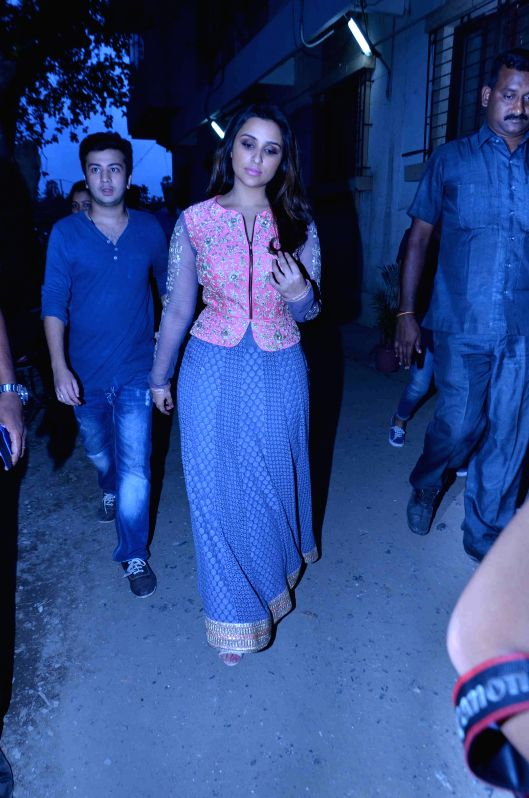 Mumbai : Actress Parineeti Chopra launches Siyaram` s SIYA Fashion Brand in Mumbai on April 13,2015.