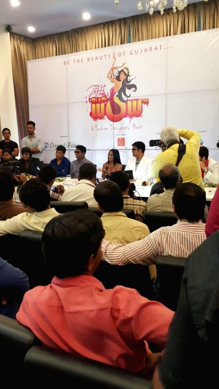 Actress Poonam Pandey launching IIFT MS. and Mr.Wow in Mumbai on April 21, 2015.