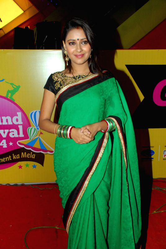 Actress Pratyusha Banerjee during Mulund Festival 2014 in Mumbai on Dec. 28, 2014. - Pratyusha Banerjee