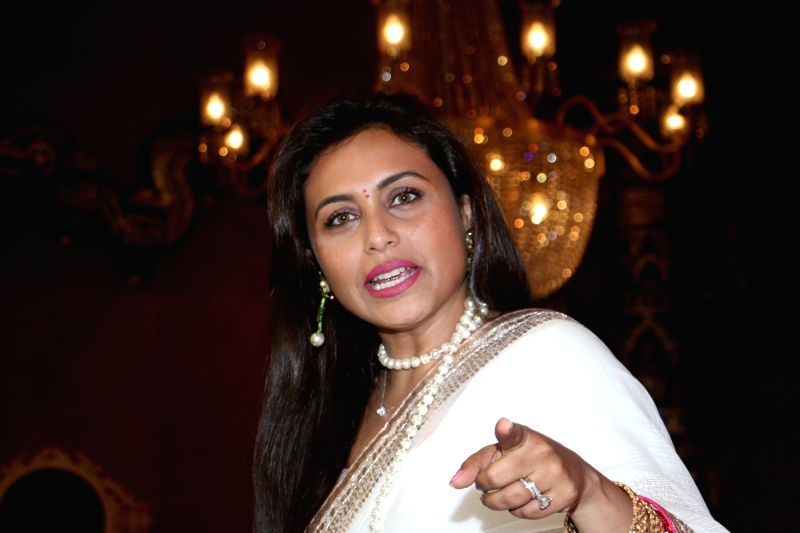 Mumbai: Actress Rani Mukerji at a Juhu Durga Puja pandal in Mumbai on Oct 5, 2019. (Photo: IANS)
