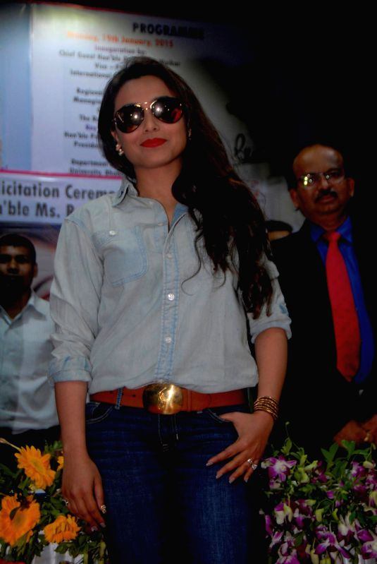 Actress Rani Mukherjee during a Mumbai University felicitation program in Mumbai. - Rani Mukherjee