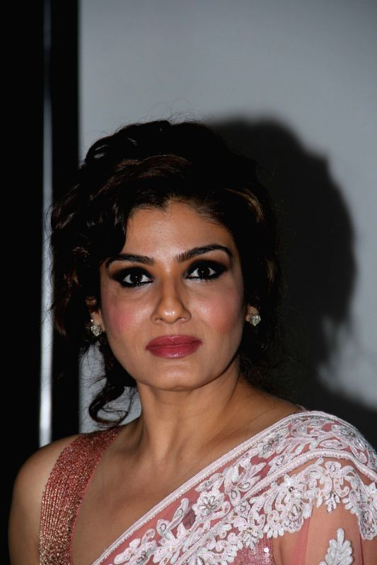 Actress Raveena Tandon during a talent contest organised by Aegon Religare Life Insurance in Mumbai on April 11, 2015. - Raveena Tandon
