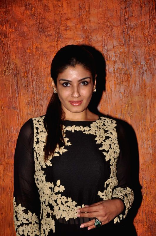 Actress Raveena Tandon during the opening ceremony of 2nd edition of India Dance Week in Mumbai on April 25, 2015. - Raveena Tandon