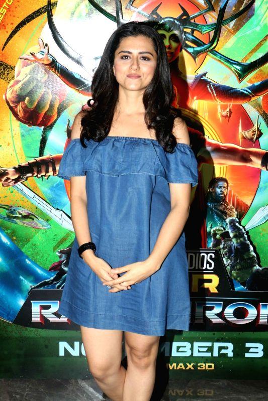 "Mumbai : Actress Ridhi Dogra at the special screening of film ""Thor: Ragnarok"" in Mumbai on Oct 31, 2017."