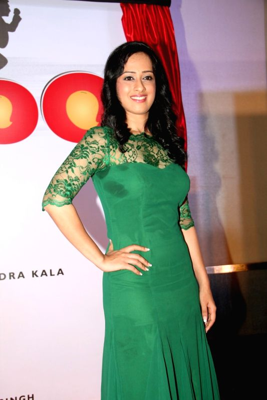 Actress Saisha Sehgal during the launch of film Udanchhoo in Mumbai on March 31 2015. - Saisha Sehgal