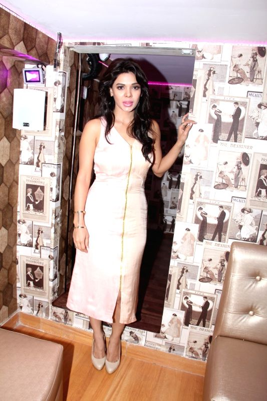 Actress Sara Loren during the inauguration of Dazzle Rest-O- Lounge in Mumbai, on April 22, 2015.