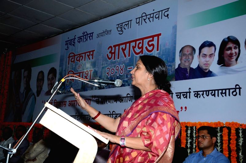 Actress Shabana Azmi during an open session discussion on Development Plan 2014 to 2034 organised by MRCC in Mumbai on March 24, 2015. - Shabana Azmi
