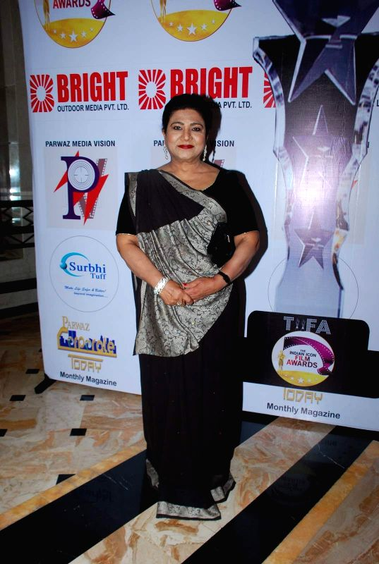 Actress Shahnaz Rizwan during the Announcement of annual award show TIIFA in Mumbai on April 18, 2015. - Shahnaz Rizwan