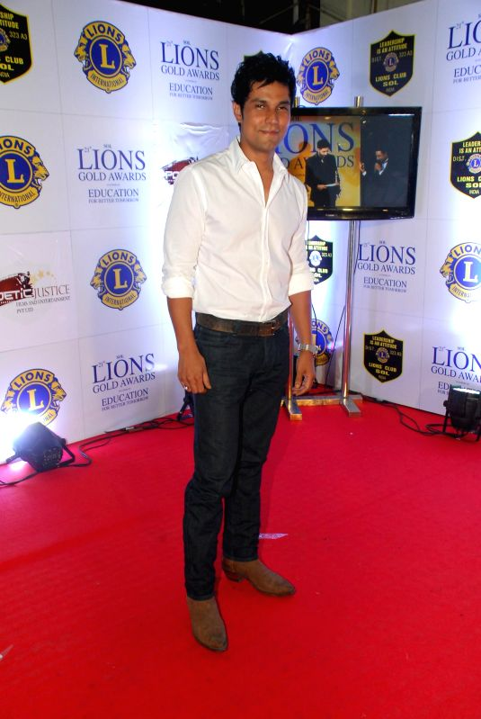 Actress Shamata Anchan during the Lions Gold Awards 2015 in Mumbai on Jan 6, 2015. - Shamata Anchan