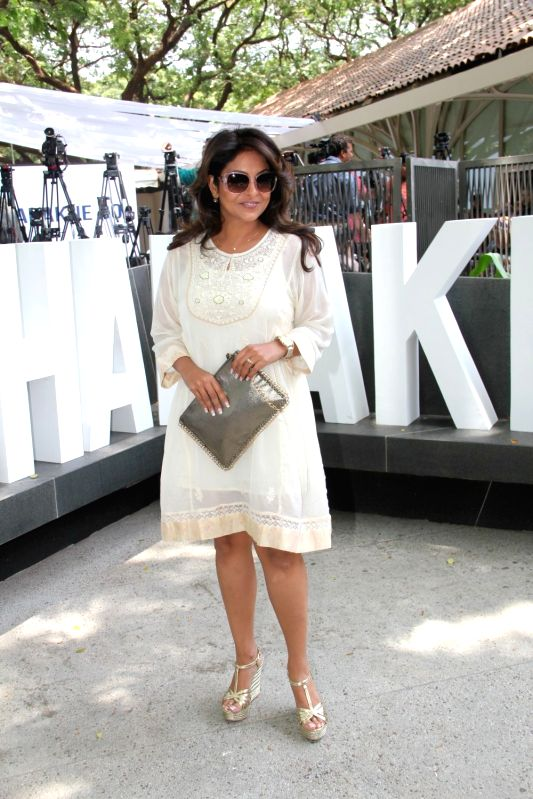 Actress Shefali Shah during the promotion of film Dil Dhadakne Do in Mumbai, on May 3, 2015. - Shefali Shah