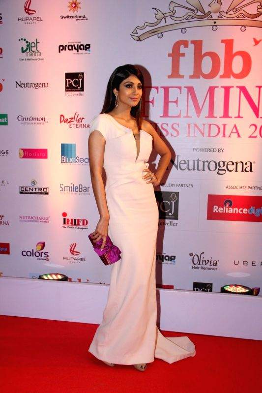 Actress Shilpa Shetty during the Grand Finale fbb Femina Miss India 2015 in Mumbai on March 28, 2015. - Shilpa Shetty