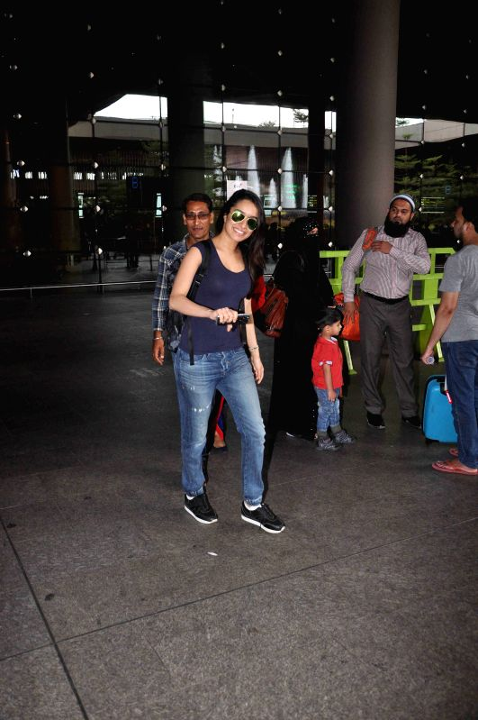 Actress Shraddha Kapoor spotted at the international airport in Mumbai, on May 30, 2015. - Shraddha Kapoor