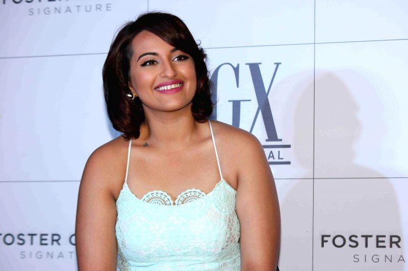 Actress Sonakshi Sinha during the launch of American eyewear brand, Foster Grants in Mumbai on 18th Feb, 2015. - Sonakshi Sinha