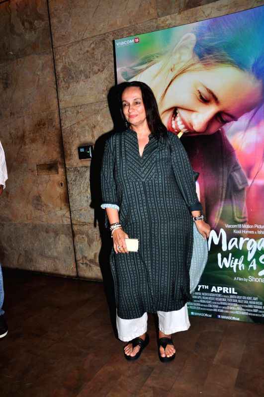 Actress Soni Razdan during the special screening of film Margarita With A Straw in Mumbai on 13th April 2015. - Soni Razdan