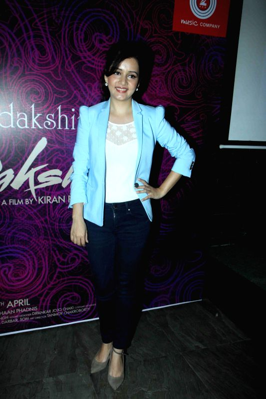 Actress Sulagna Panigrahi during the first look and music launch of Ek Adbhut Dakshina Guru Dakshina in Mumbai on March 25, 2015. - Sulagna Panigrahi