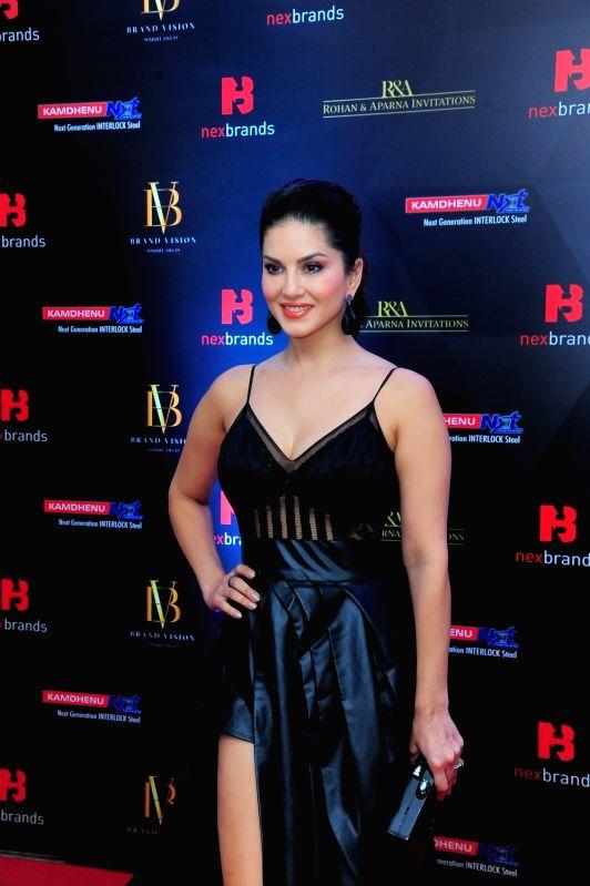 Mumbai: Actress Sunny Leone at the 2019 Brand Vision Awards in Mumbai, on Feb 12, 2019.