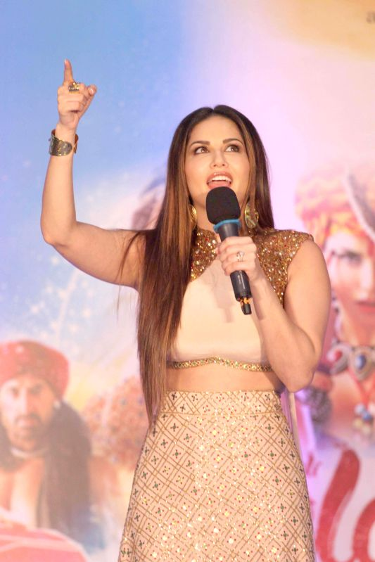 Actress Sunny Leone during the promotion of film Ek Paheli Leela at Korum Mall in Thane  on 5th April 2015. - Sunny Leone
