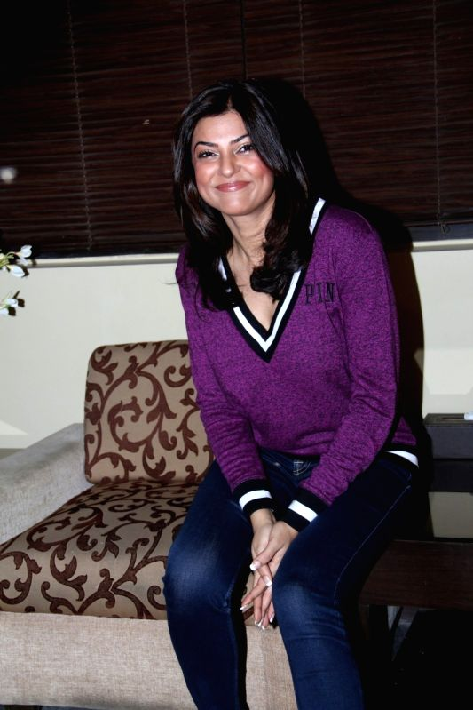 Actress Sushmita Sen during the opening of Soapbox and Makeover Salon at Soham Spa in Mumbai on April 6, 2015.