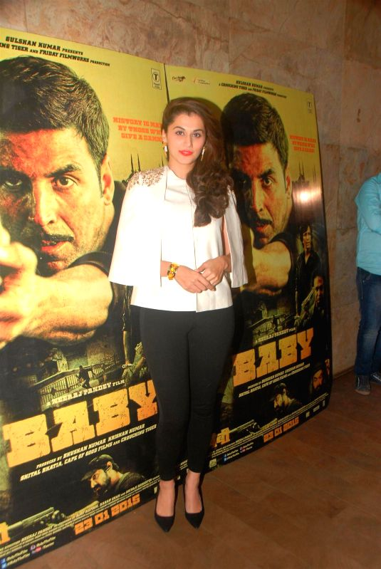 Actress Taapsee Pannu during the special screening of film Baby in Mumbai on Jan 21, 2015. - Taapsee Pannu