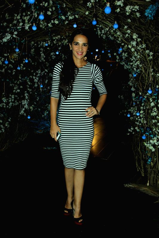 Actress Tara Sharma during the preview of summer/resort 2015 collection by fashion designer Maheka Mirpuri, in Mumbai on April 9, 2015. - Tara Sharma