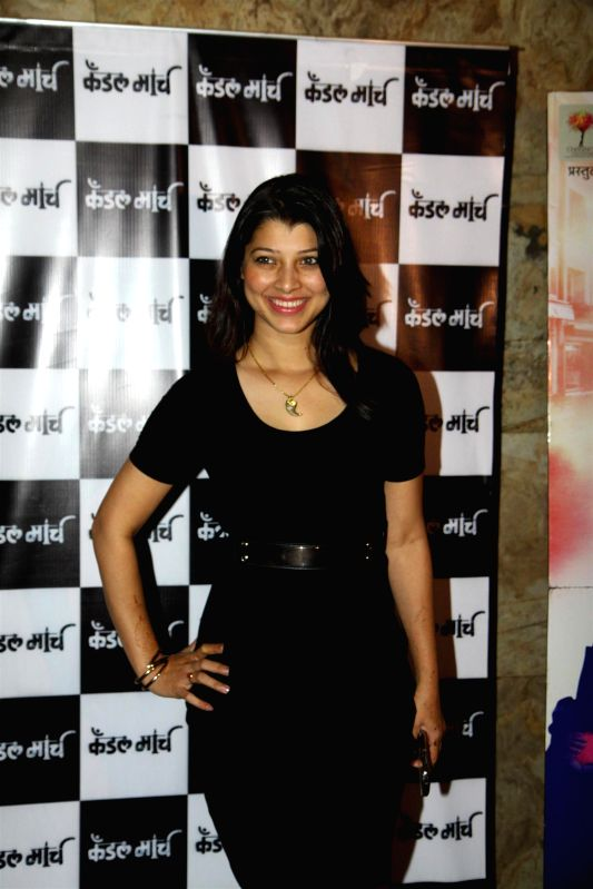 Actress Tejaswini Pandit during special screening of Marathi film Candle March in Mumbai  in Mumbai on Dec 4, 2014. - Tejaswini Pandit